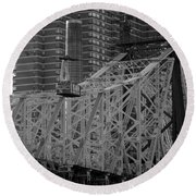 Round Beach Towel featuring the photograph Roosevelt Island Tram by John Harding