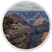 Canyon Below Round Beach Towel