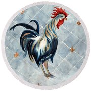 Rooster - Red White And Blue Roo Round Beach Towel