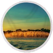 Rooster Tail Round Beach Towel