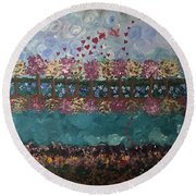 Roots And Wings Round Beach Towel