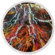 Roots From The Past Round Beach Towel by Carolyn Rosenberger