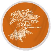 Roots In Tennessee Round Beach Towel