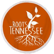 Roots In Tennessee Seedlin Round Beach Towel