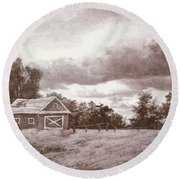 Roots Of The Farmer Round Beach Towel