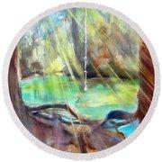 Rope Swing Round Beach Towel by Carlin Blahnik