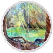 Rope Swing Round Beach Towel