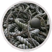 Ropes And Lines Round Beach Towel