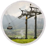 Ropeway High Chairlift Tourist Attraction Round Beach Towel