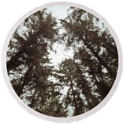 Rorschach Trees Round Beach Towel by Karen Stahlros