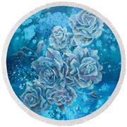 Rosa Stellarum Round Beach Towel