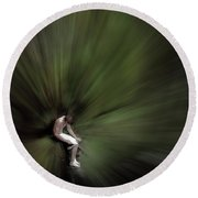 Round Beach Towel featuring the photograph Roscoe by Wayne King