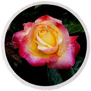 Rose 1 Round Beach Towel