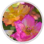 Rose 114 Round Beach Towel by Pamela Cooper