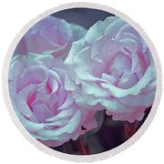 Rose 118 Round Beach Towel by Pamela Cooper