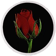 Rose 123 Round Beach Towel