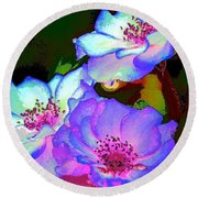 Rose 127 Round Beach Towel by Pamela Cooper