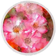 Rose 140 Round Beach Towel by Pamela Cooper