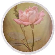 Rose 2 Round Beach Towel