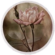 Rose 3 Round Beach Towel