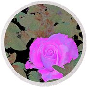 Rose 97 Round Beach Towel