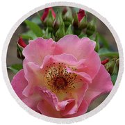 Rose And Buds Round Beach Towel