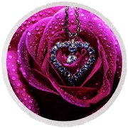 Rose And Hart Round Beach Towel