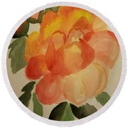 Rose And Rosebuds Round Beach Towel