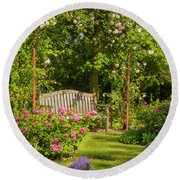 Rose Arbor Round Beach Towel