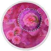 Rose Art A Rose Is Given With Love Round Beach Towel