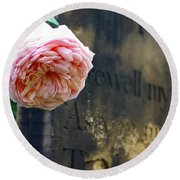 Rose At The Grave Round Beach Towel
