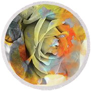 Round Beach Towel featuring the photograph Rose Bud by Athala Carole Bruckner