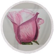 Rose Bud Round Beach Towel