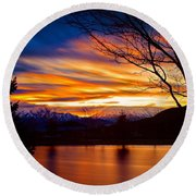 Rose Canyon Dawning Round Beach Towel