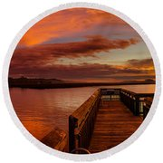 Rose Colored Classes Round Beach Towel by David Smith