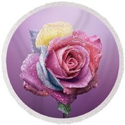 Rose Colorfull Round Beach Towel