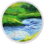 Rose Creek Summer Round Beach Towel