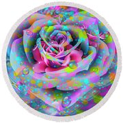 Round Beach Towel featuring the digital art Rose by Eleni Mac Synodinos