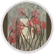 Rose Field Round Beach Towel