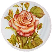 Rose For My Mom Round Beach Towel