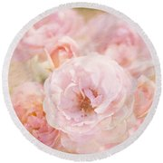 Rose Garden 1 Round Beach Towel