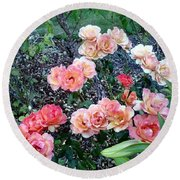 Rose Garden Round Beach Towel by Sadie Reneau
