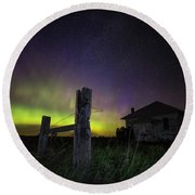 Round Beach Towel featuring the photograph Rose Hill by Aaron J Groen