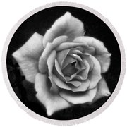 Rose In Mono. #flower #flowers Round Beach Towel