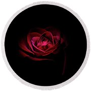 Rose Is A Rose Round Beach Towel by Doug Long