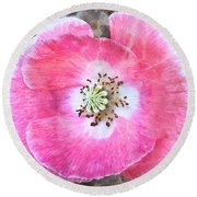 Rose Marble Round Beach Towel