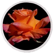Rose Round Beach Towel by Mark Blauhoefer