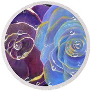 Rose Medley Round Beach Towel
