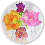 Rose Melody Round Beach Towel