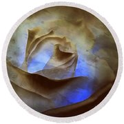 Round Beach Towel featuring the photograph Rose - Night Visions  by Janine Riley
